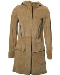 JOSEPH - Pre-owned Beige Suede Coats - Lyst