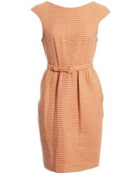 Jonathan Saunders Orange Wool Dress