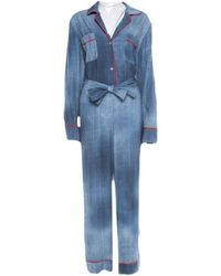 Fendi Blue Viscose Jumpsuits