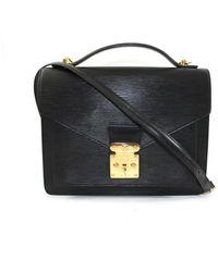 Louis Vuitton Monceau Leder Handtaschen - Schwarz