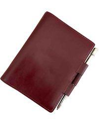 Hermès Burgundy Leather - Red