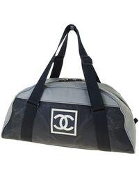 Chanel Borsa a mano in tela grigio