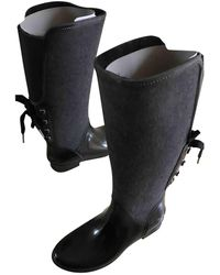 Michael Kors Tweed Wellington Boots - Multicolour