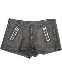 Rag & Bone - Pre-owned Black Leather Shorts - Lyst