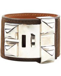 Hermès Collier De Chien Leather Bracelet - Brown