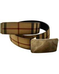 Burberry Cloth Belt - Natural