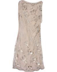 db66537f3d9 Valentino Wool Cashmere Knit Dress in Natural - Lyst