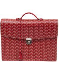 Goyard Cloth Satchel - Red