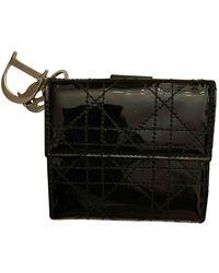 Dior Lackleder Portemonnaie - Schwarz