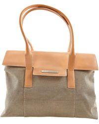 BVLGARI - Beige Cloth Handbag - Lyst