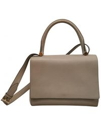 Max Mara Leather Handbag - Grey