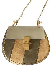 9e9bf36fbf0 Chloé Grey Mini Drew Bag in Gray - Lyst