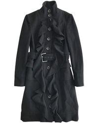 Diane von Furstenberg Black Wool Coats