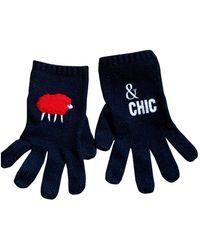 Moschino Wolle handschuhe - Schwarz