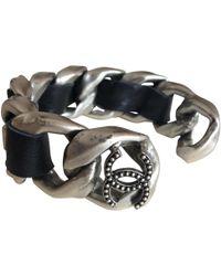Chanel - Anthracite Metal Bracelet - Lyst