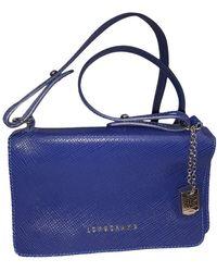 Longchamp Bandolera de Cuero - Azul