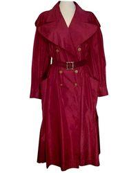 Chanel Gabardina en seda rojo