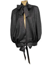 Chanel Silk Cape - Black