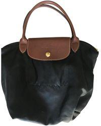 Longchamp Sac à main Pliage en Polyester Noir