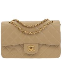 Chanel Timeless/Classique Leder handtaschen - Natur