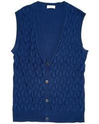Dries Van Noten - Blue Silk Knitwear & Sweatshirts - Lyst