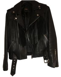 Maje Black Leather Jacket
