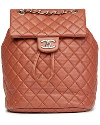 Chanel Zaino in pelle marrone Timeless/Classique