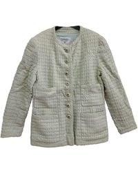Chanel - Green Tweed Jacket - Lyst