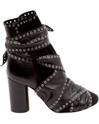 Isabel Marant - Black Leather Ankle Boot - Lyst