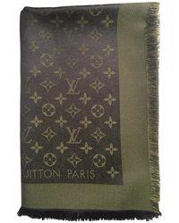 Louis Vuitton Châle Monogram Shine Seide Stola - Braun