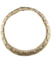 BVLGARI - Pre-owned Vintage Parentesi Yellow Yellow Gold Necklaces - Lyst