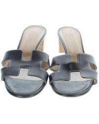 Hermès Oasis Leather Sandals - Multicolour