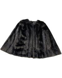 Michael Kors Black Faux Fur Coat