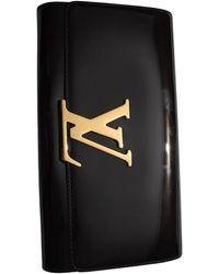 Louis Vuitton Louise Patent Leather Clutch Bag - Black