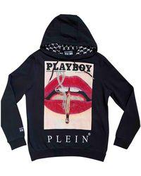 Philipp Plein Black Cotton Knitwear & Sweatshirt