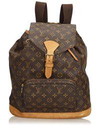 Louis Vuitton - Pre-owned Vintage Montsouris Brown Plastic Backpacks - Lyst