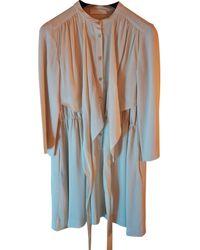 Chloé \n Beige Silk Dress - Multicolour