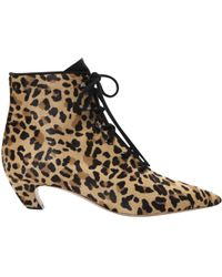 800b888c3d5 Dior - Boots à lacets en veau façon poulain - Lyst