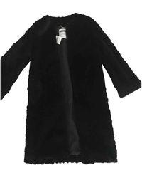 Moschino Faux Fur Coat - Black