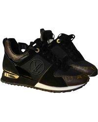 Louis Vuitton Run Away Leinen Sneakers - Schwarz