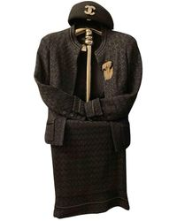 Chanel Vintage Black Silk Jacket