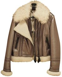 Burberry Shearling Jacket - Multicolor