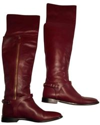 Burberry Leather Riding Boots - Multicolor