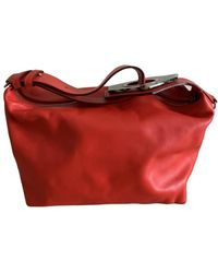 Ganni Leather Handbag - Red