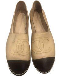 Chanel Espadrillas in Pelle - Neutro