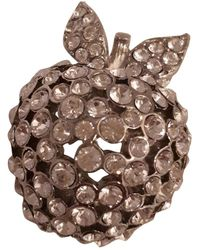 Sonia Rykiel Broche en metal blanco - Multicolor