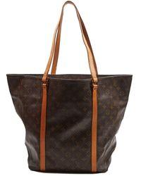 Louis Vuitton Bolsa de mano en lona marrón Babylone vintage