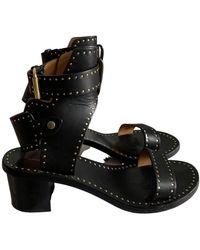Isabel Marant Jaeryn Leather Sandal - Black