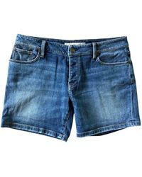 Burberry Blue Cotton - Elasthane Shorts