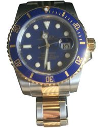 Rolex - Submariner Blue Gold And Steel Watches - Lyst